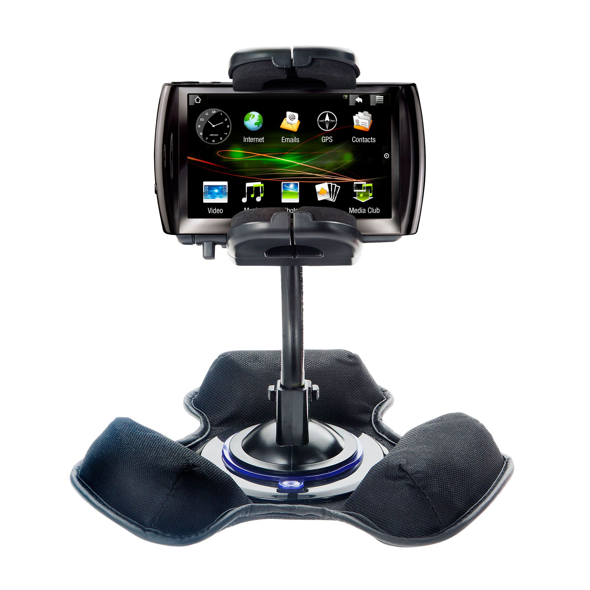 Car   Truck Vehicle Holder Mounting System for Archos 5 5g (all GB Sizes) Includes Unique Flexible Windshield Suction... by