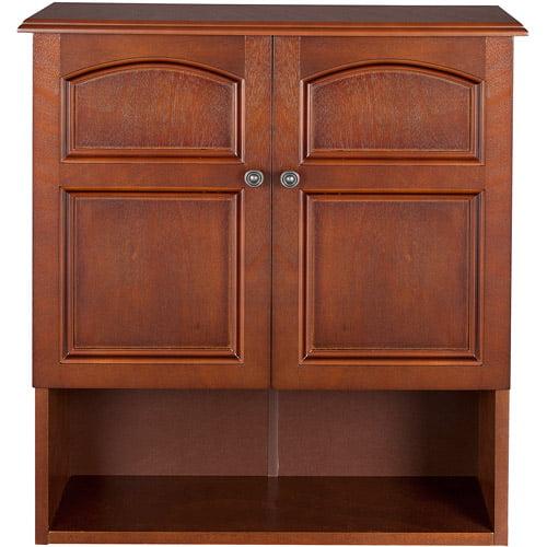 Elegant Home Fashions Elgin Wall Cabinet, Salvage Wood Finish