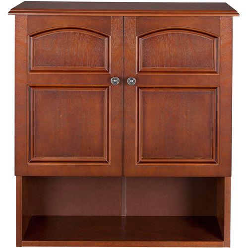Elegant Home Fashions Elgin Wall Cabinet, Salvage Wood Finish