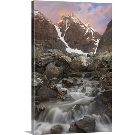 Small Cabasa - Great BIG Canvas Don Paulson Premium Thick-Wrap Canvas entitled Canada, BC, Sunrise over small rapids and Cathedral Mountain
