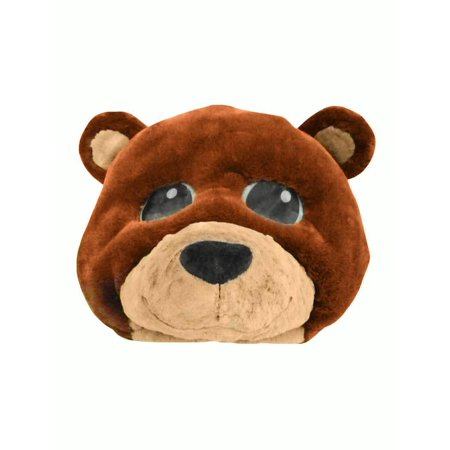 Plush Brown Bear Animal Cute Teddy Overhead Mask Adult Costume Accessory Funny for $<!---->
