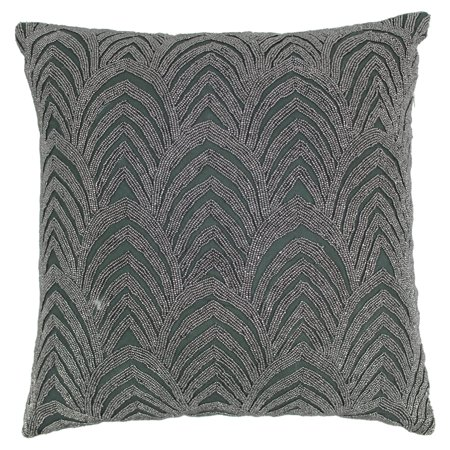 Blazing Needles 20 x 20 in. Arching Fans Beaded Throw - Cheap Throw Beads