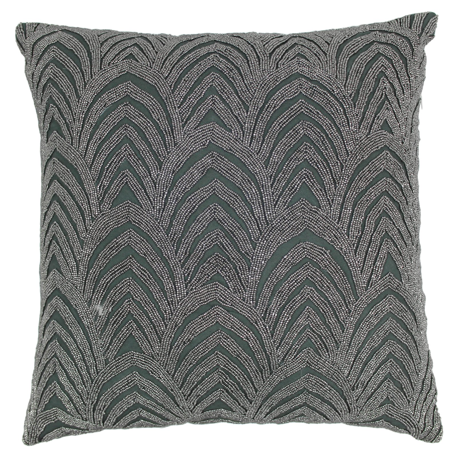 Blazing Needles 20 x 20 in. Arching Fans Beaded Throw Pillow
