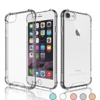 iPhone 8 Case, iPhone 8 Clear Case, iPhone 7 Case, Njjex Crystal Transparent Clear Flexible Shock Absorption Bumper Soft Gel TPU Cover For iPhone 7/8 4.7 Inch -Clear