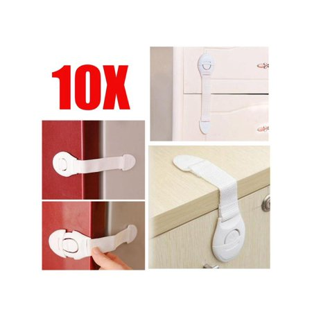 10 Pcs Adhesive Baby Children Kids Safety Lock Latch