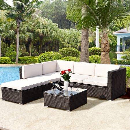 Costway 4-piece Outdoor Patio Rattan Wicker Furniture Set ...