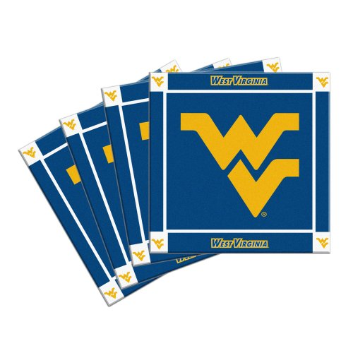 WVU Mountaineers Beverage Coasters - Set of 4