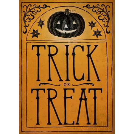 Vintage Halloween Trick or Treat Poster Print by Sara Zieve Miller