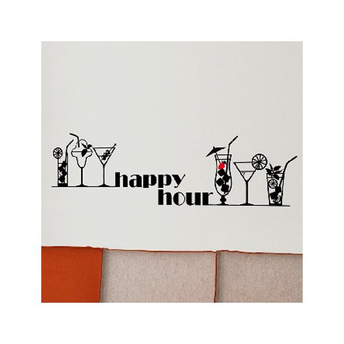 Brewster Home Fashions Euro Happy Hour Wall Decal
