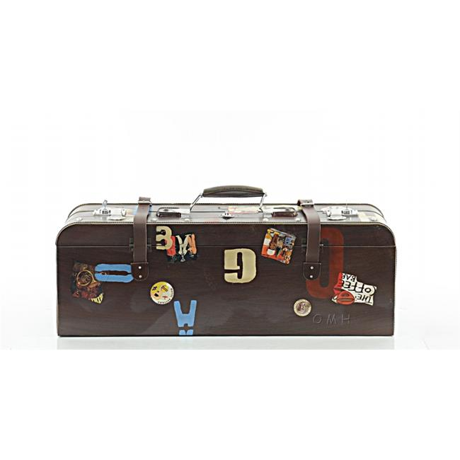 Old Modern Handicrafts AJ047 Vintage Suitcase, 11.5 x 8 x 30 in. by Old Modern Handicrafts