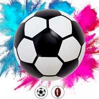 "Gender Reveal Soccer Ball Kit (1 Soccer Ball 5.5"" + Pink Powder + Blue Powder) Soccer Ball Gender Reveal, Gender Reveal Smoke Bombs, Baby Boy Girl Best Decoration Surprise Party & Occasions"