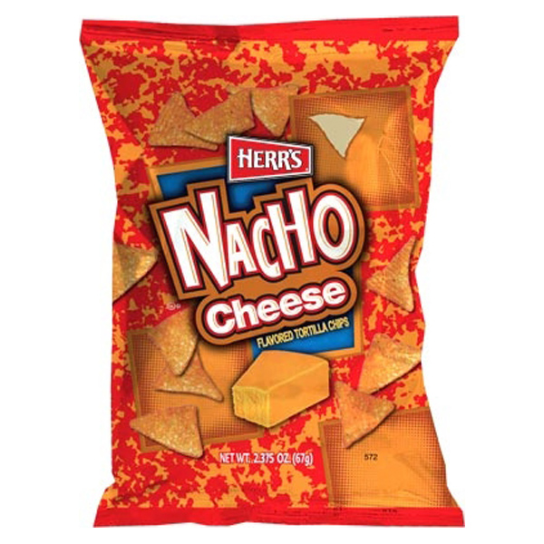 Herr's Nacho Cheese Tortilla Chips 1 oz Bags - Pack of 72