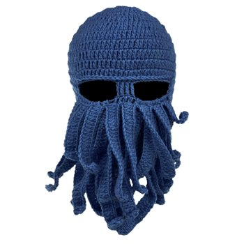 Vbiger Unisex Adult Octopus Beard Mask Hat