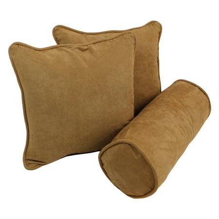 Blazing Needles 3 Piece Microsuede Corded Throw Pillow Set