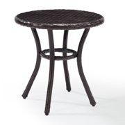 Crosley Palm Harbor Outdoor Wicker Round Side Table