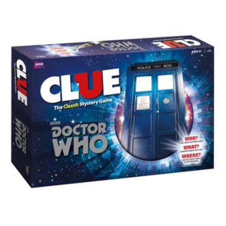 Doctor Who Clue Board Game Mystery Weapons Screwdriver Police Box Usaopoly Cl042 341