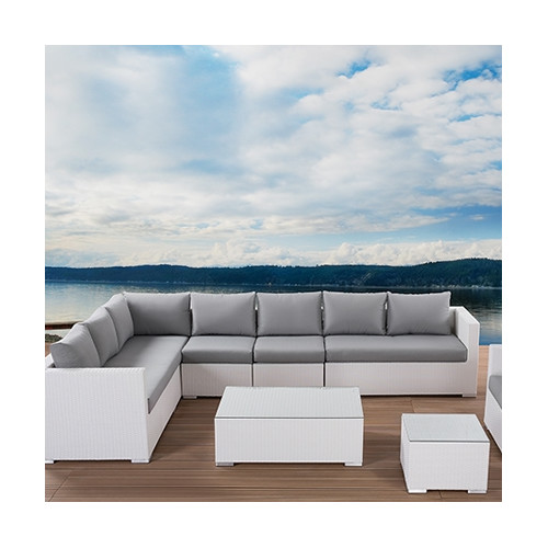 Beliani XXL Outdoor 7 Piece Lounge Seating Group with Cushions