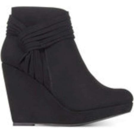Sodi Womens Chelaa Fabric Closed Toe Ankle Fashion Boots