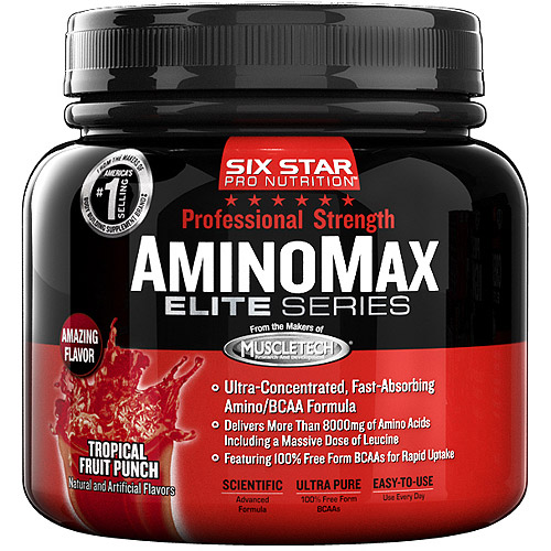 Six Star Pro Nutrition Tropical Fruit Punch Elite Series Professional Strength Aminomax, 0.6 lb