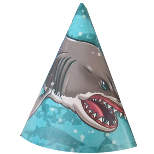 Summer Shark Cone Hats (8ct)