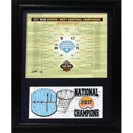 North Carolina College Basketball - 11x14 Deluxe Frame - 2017 Men's College Basketball National Champions North Carolina Tar Heels
