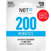 Net10 $20 Basic Prepaid 30-Day Plan Direct Top Up