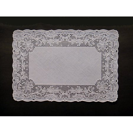 Astoria Grand Gregg Vinyl Lace Oblong Place Mat (Set of 4)