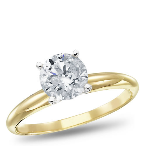 14k yellow gold solitaire engagement ring 1 00