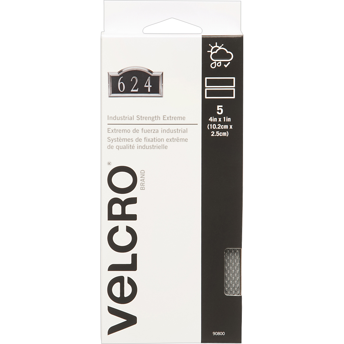 """VELCRO(R) Brand Industrial Strength Extreme Fasteners 4""""X1""""-Titanium - image 1 of 1"""