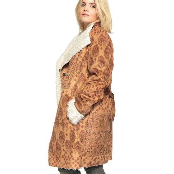 d283d22547b Castaluna - Plus Size Printed Faux-shearling Coat With Shawl Collar ...