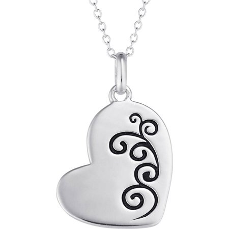 Sterling silver memorial heart pendant 18 walmart sterling silver memorial heart pendant 18 aloadofball Image collections