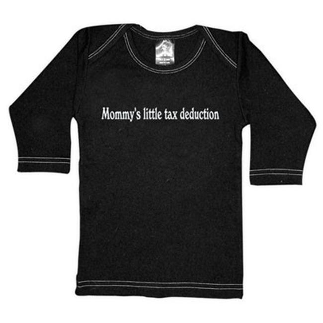 Rebel Ink Baby 367ls1824 Mommy's Little Tax Deduction- 18-24 Month Black Long Sleeve Tee