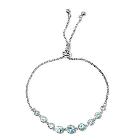 Round Cubic Zircon CZ Black Tennis Bracelet for Women Cttw 4.3 Jewelry Gift