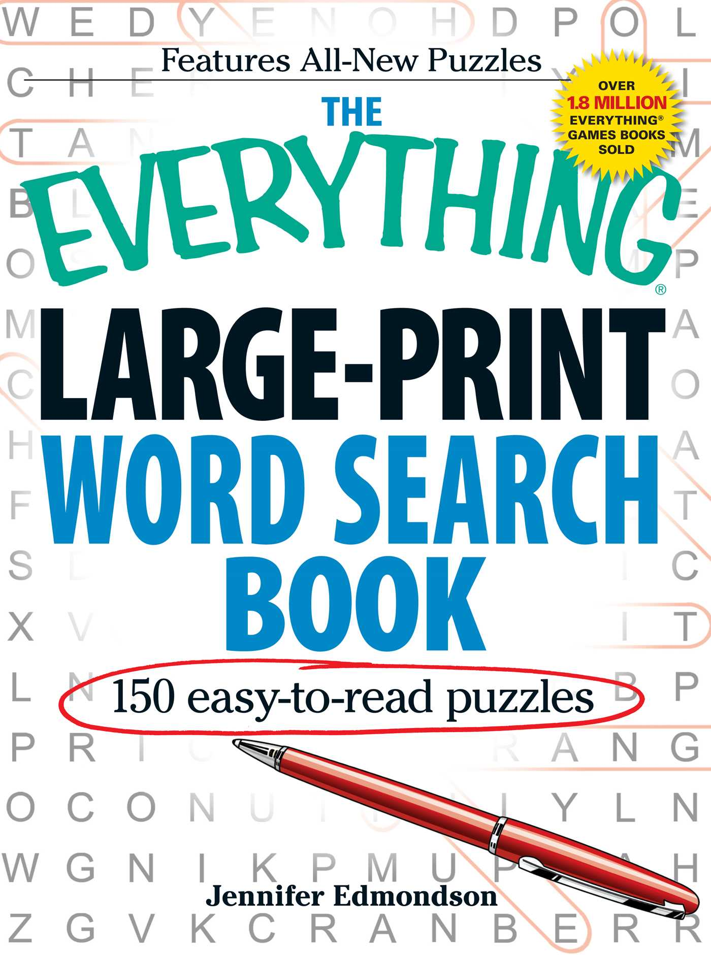 photograph relating to Large Printable Word Search referred to as The Anything at all Substantial-Print Phrase Glance E book : 150 straightforward-toward-go through puzzles