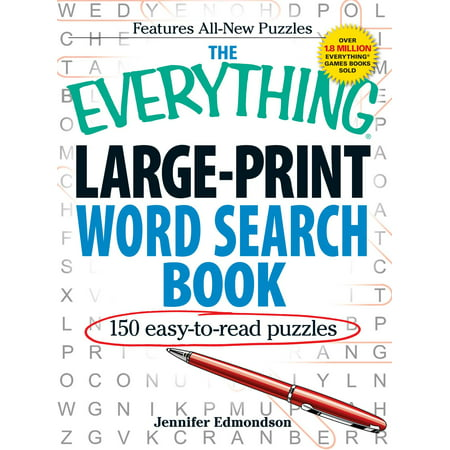 The Everything Large-Print Word Search Book : 150 easy-to-read puzzles ()