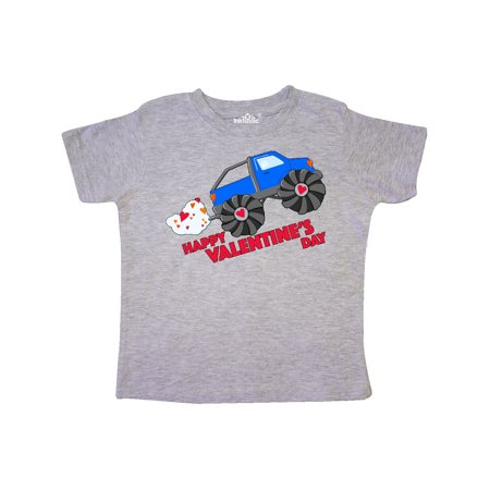Happy Valentine's Day-monster truck Toddler - Valentine T Shirts For Toddlers