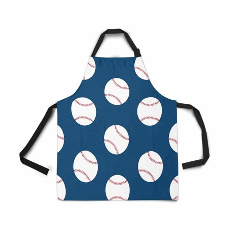 ASHLEIGH Adjustable Bib Apron for Women Men Girls Chef with Pockets Baseball Seamless American Sport Championship Novelty Kitchen Apron for Cooking Baking Gardening Pet Grooming Cleaning (Halloween Baking Championship)