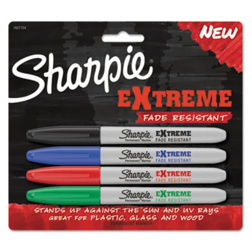 Sharpie Extreme Permanent Markers - 1.1 Mm Marker Point Size - Assorted - 4/pack (1927154)