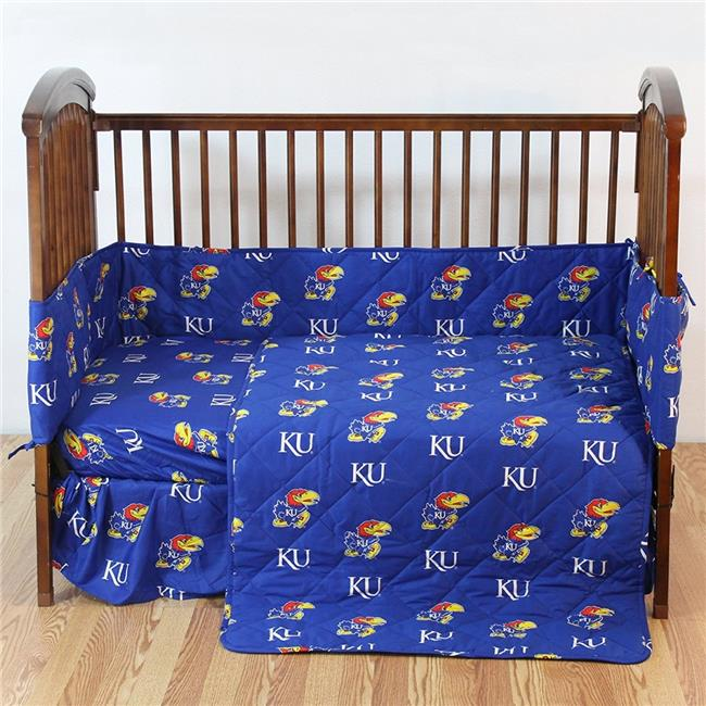 College Covers KANCSFSPR Kansas Jayhawks Baby Crib Fitted Sheet Pair