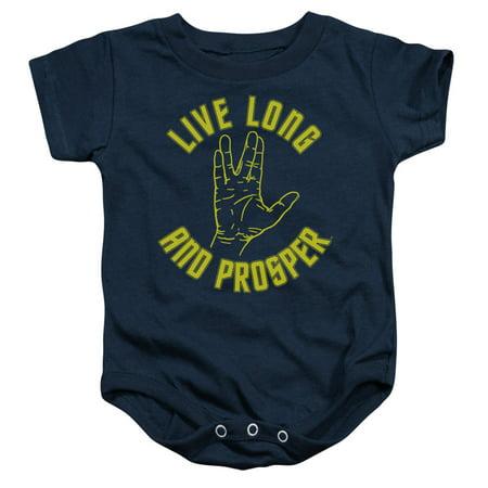 Star Trek Live Long Hand Unisex Baby Snapsuit