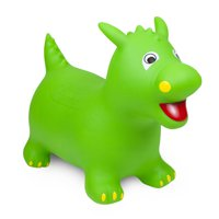 Waddle! Dragon Bouncer! Inflatable Ride On Toy (Green)