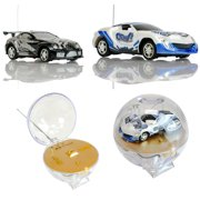 2 Pack Travel Size Remote Control Mini Rechargeable Racing Cars Easy to Carry
