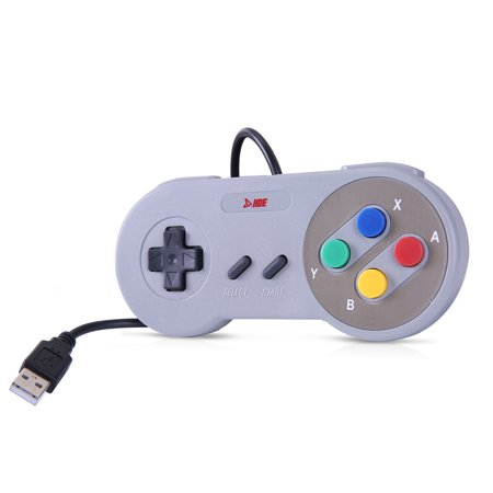 HDE Classic USB Gamepad Retro SNES Styled Controller for PC / Mac / Windows / Linux / Raspberry