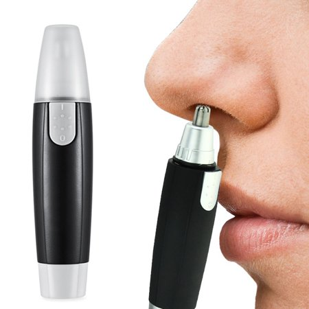Mini Portable Electric Nose Ear Hair Trimmer Battery Powered Facial Hair Remover Nosehair Clipper