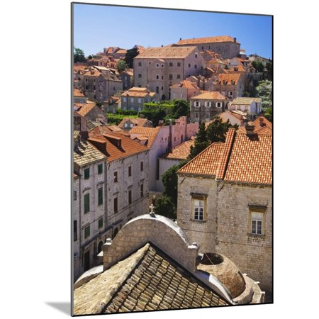 Red Terracotta Rooftops in Dubrovnik Wood Mounted Print Wall Art By William Manning