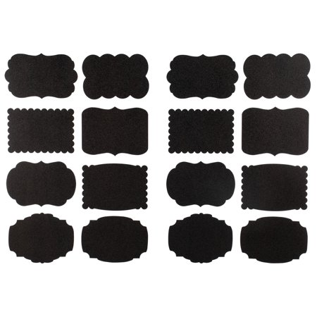 Craft County Vinyl Chalkboard Labels - Blackboard Chalk Finished Tags to Organize Jars - Adhesive Back Sticker for Pantry, Storage, Office, and Crafts