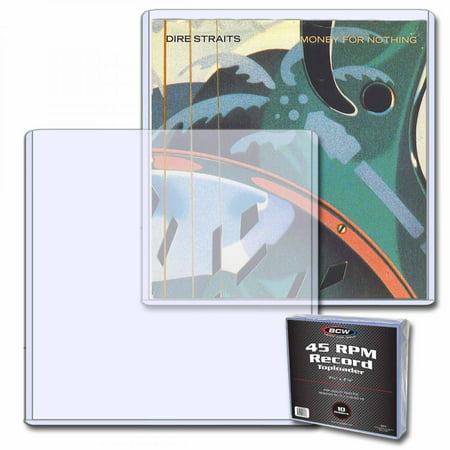 (10) BCW 45 RPM RECORD Topload Holders Holds Vinyl Records (toploaders) - Custom 45 Records