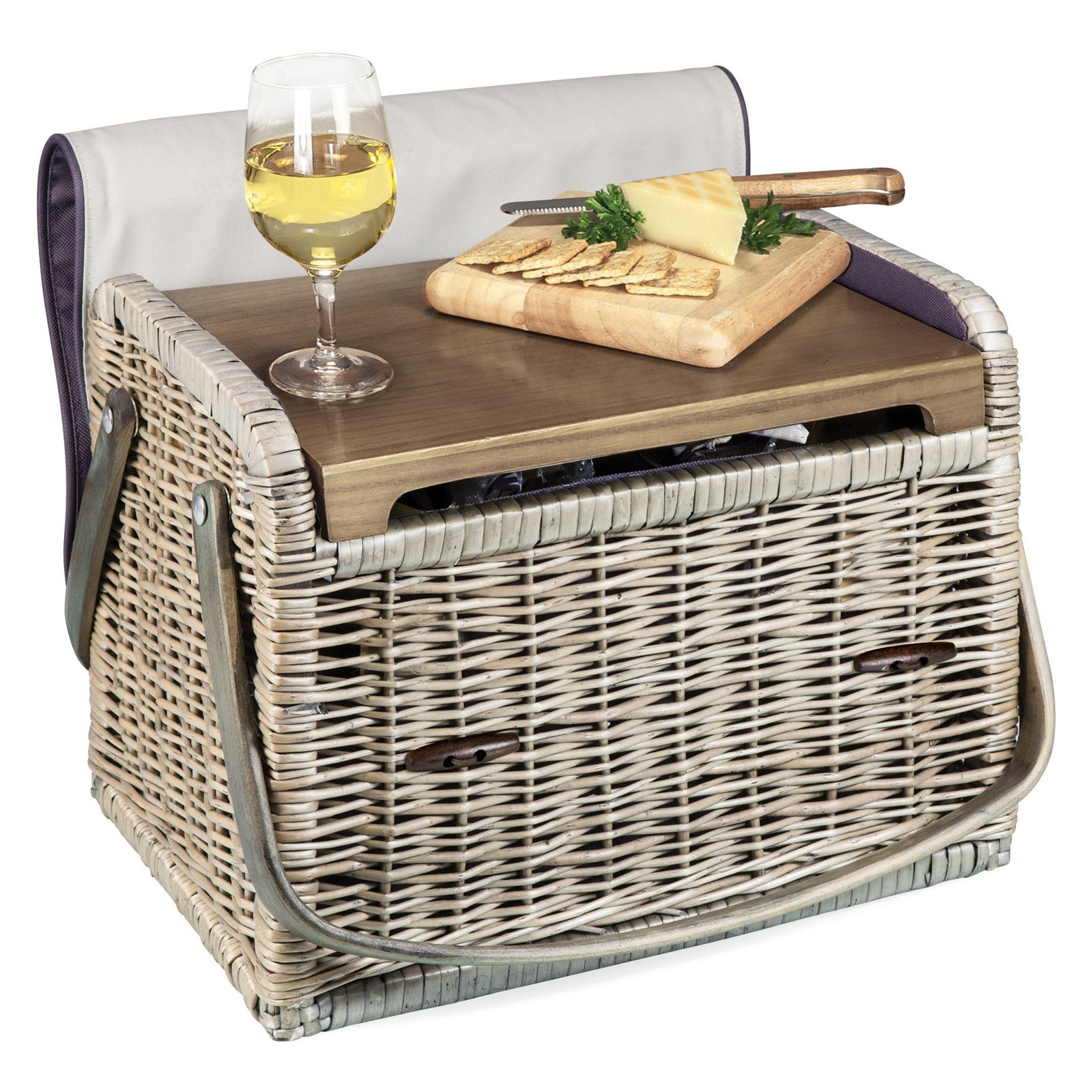 Picnic Time Aviano Kabrio Wine and Cheese Basket