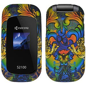 Kyocera Case, Slim Rubberized Hard Shell Snap On Protective Case Impact Defender Cover for Kyocera S2100 - Rainbow Lion Sculpture ()