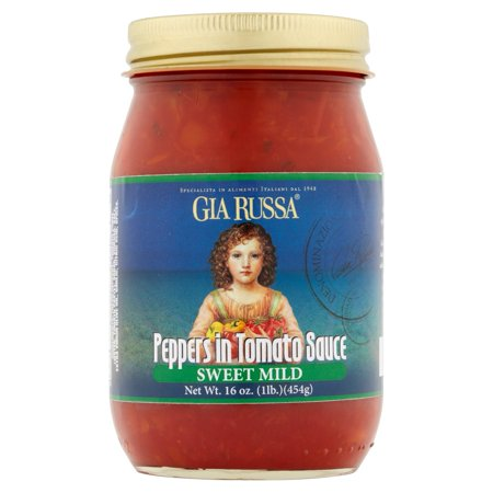 (2 Pack) Gia Russa Sweet Mild Peppers in Tomato Sauce, 16 oz